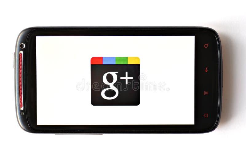 Google+ τηλέφωνο στοκ εικόνες
