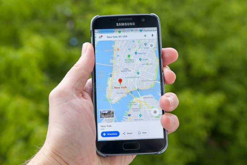 google χάρτες στοκ φωτογραφία με δικαίωμα ελεύθερης χρήσης