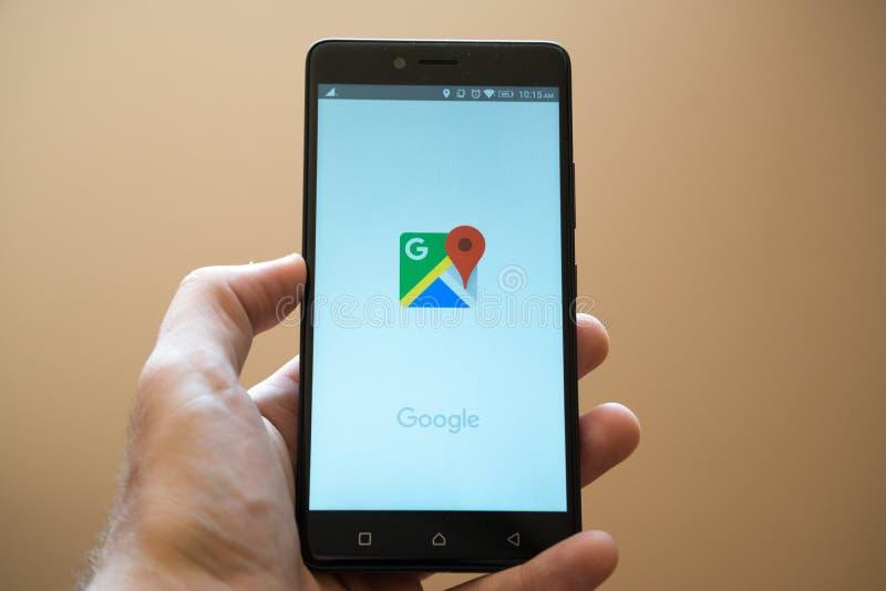 google χάρτες στοκ φωτογραφία