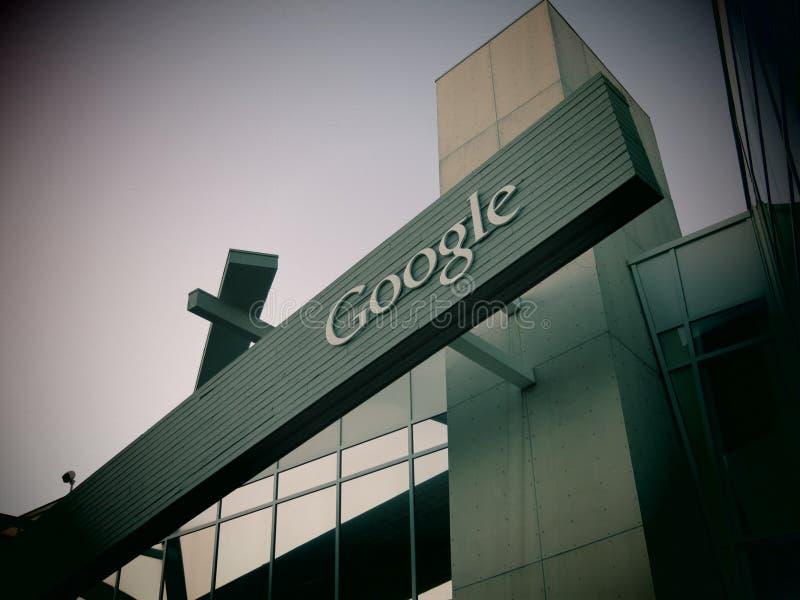 Google размещает штаб Калифорния стоковые изображения