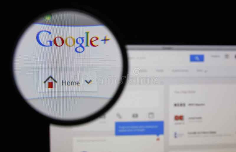 Google+ fotografia stock