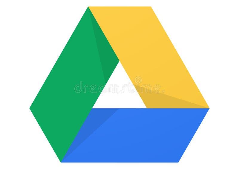 Google-Aandrijvingsembleem stock illustratie