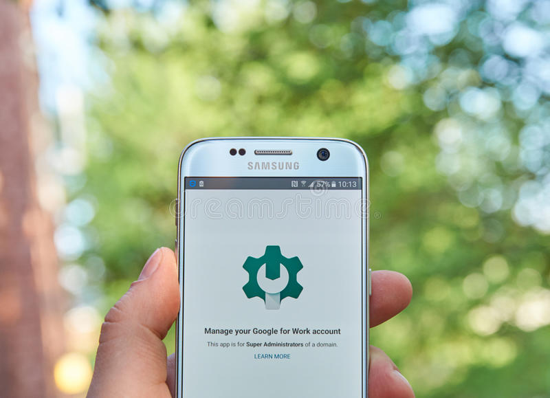 Google Admin app fotografia de stock royalty free