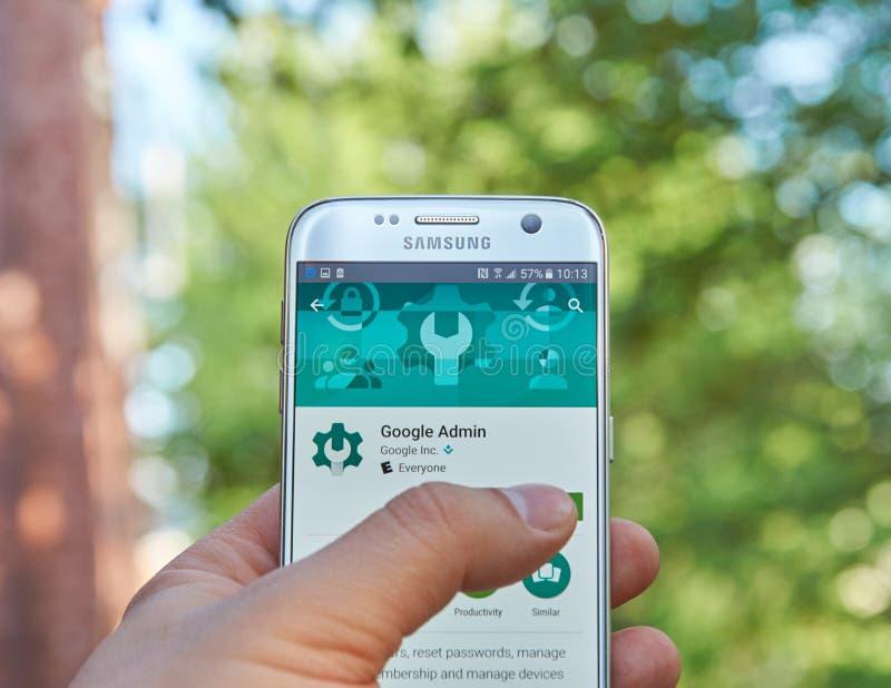 Google Admin app fotografía de archivo