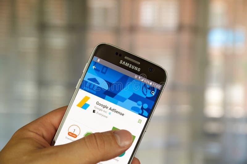 Google Adsense app immagini stock libere da diritti