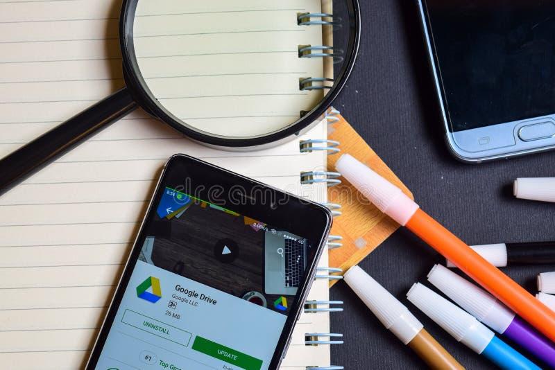 Google Adsense on Smartphone screen. BEKASI, WEST JAVA, INDONESIA. AUGUST 17, 2018 : Google Adsense on Smartphone screen. Google Adsense is a freeware web royalty free stock photo
