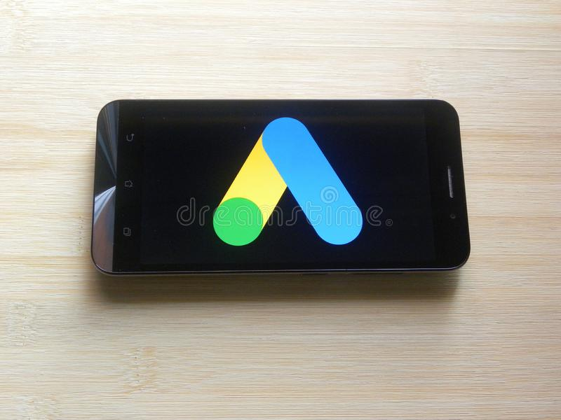 Google-Advertenties app stock fotografie
