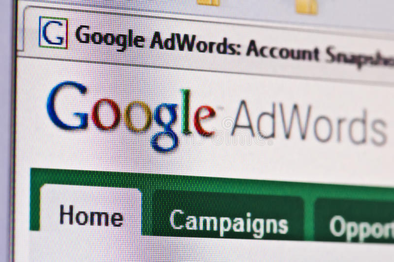 Google adwords royalty free stock photos