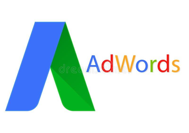 Google adwords apk icon. Vector design of mobile app brand with trademark logo
