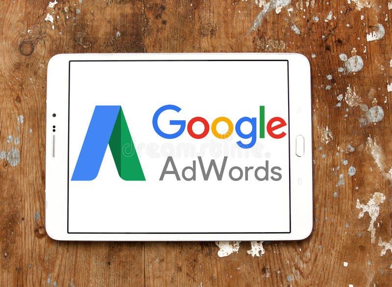 Google AdWords logo stock photo