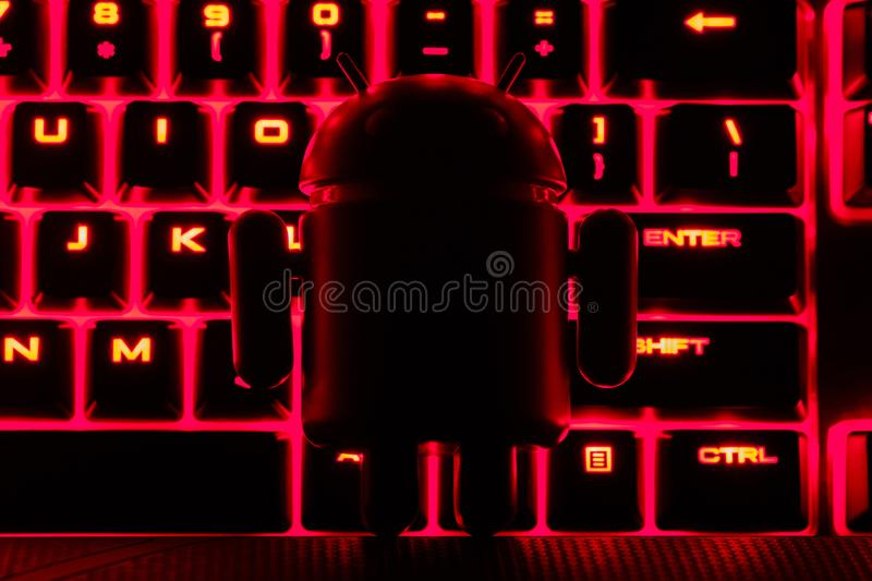 Google Android figure dark silhouette royalty free stock photo