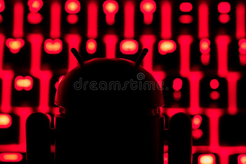 Google Android figure dark silhouette royalty free stock images