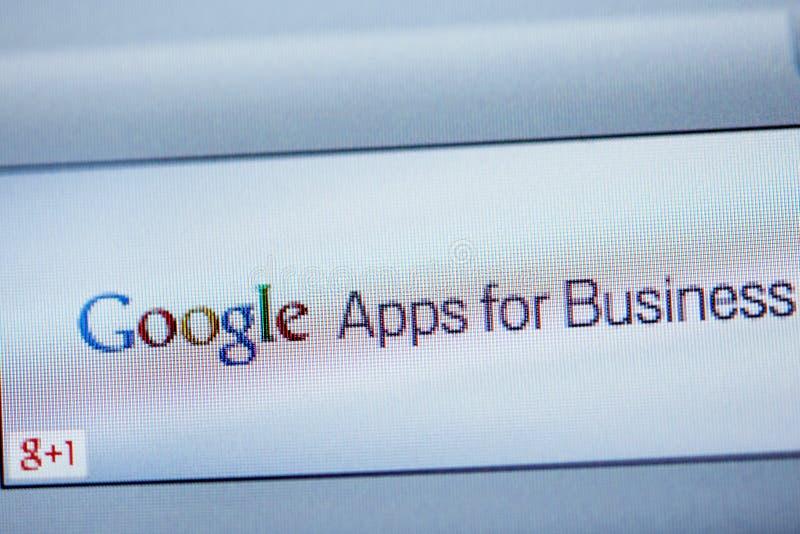 Google Apps Dla biznesu na ekranie komputerowym fotografia royalty free