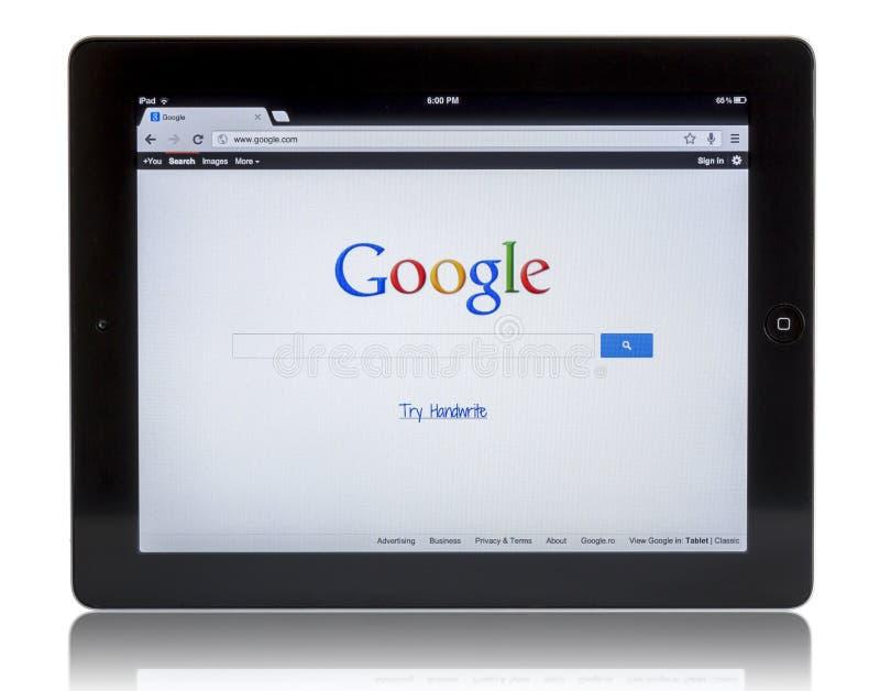 Download Google auf iPad 3 redaktionelles stockbild. Bild von anwendung - 26357474