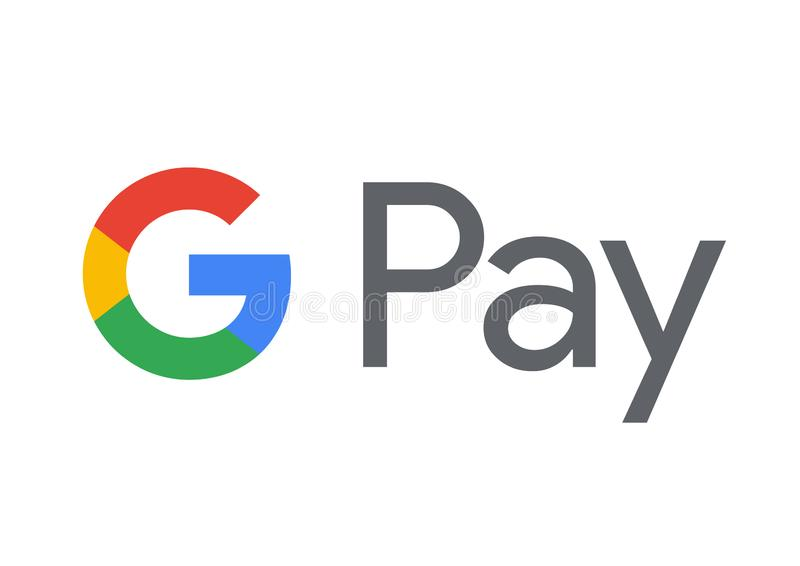 Google betaalt Embleem royalty-vrije illustratie