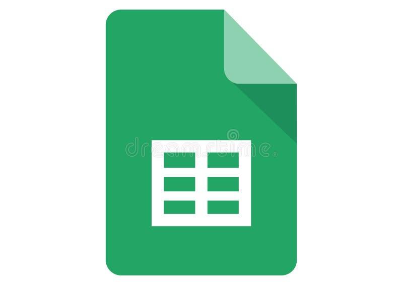 Google-Bladenembleem vector illustratie