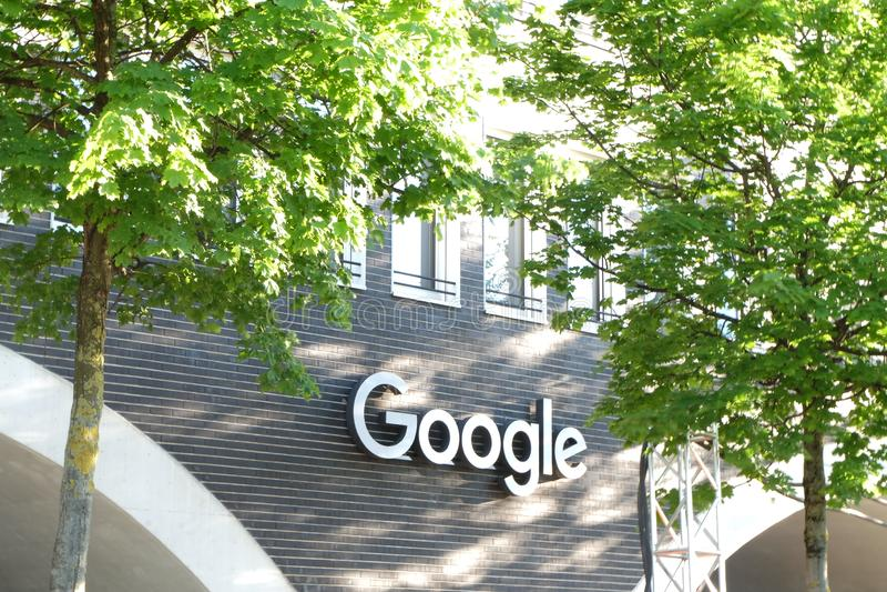 Google budynek biurowy w Monachium obrazy royalty free