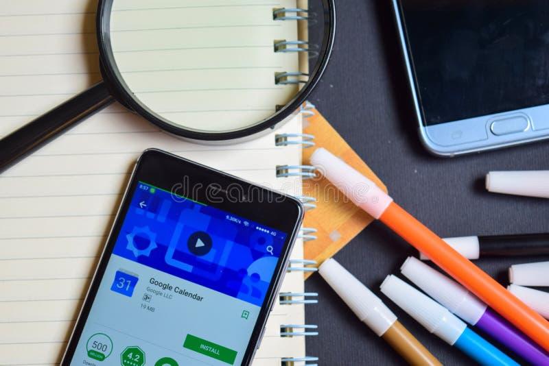 Google Calendar App on Smartphone screen. stock photo
