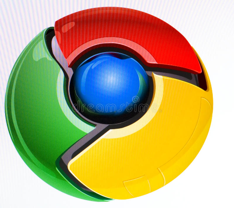 Google Chrome Editorial Stock Image
