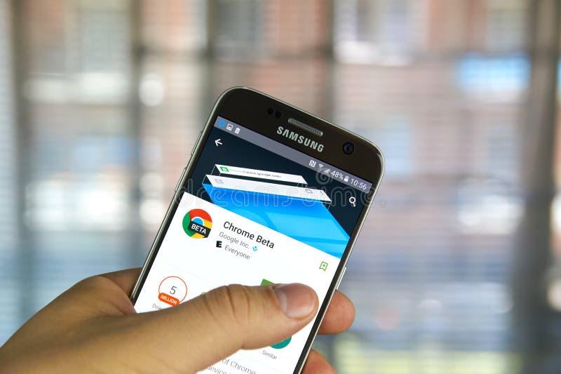 Google Chrome app beta fotos de archivo libres de regalías