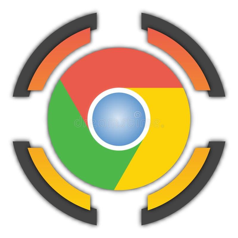 Google Chrome button vector illustration