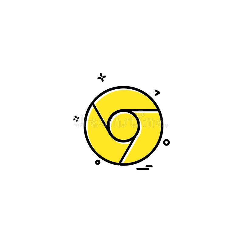 Google chrome icon design vector royalty free illustration