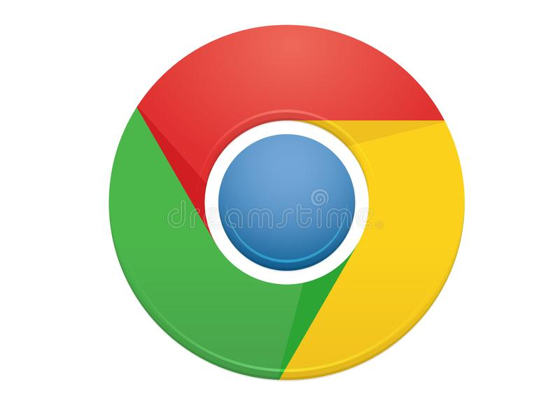 Google Chrome logo stock illustrationer