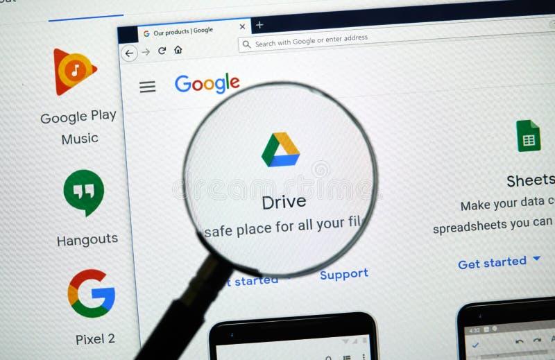 Google conduce el logotipo foto de archivo