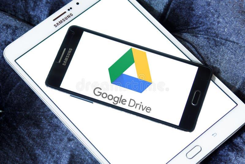Google conduisent le logo images stock