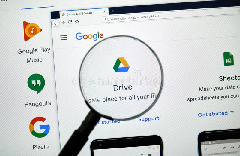 Google conduisent le logo photo stock