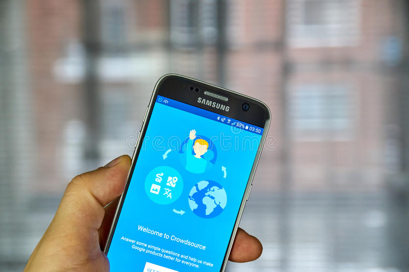 Google Crowdsource app zdjęcia stock