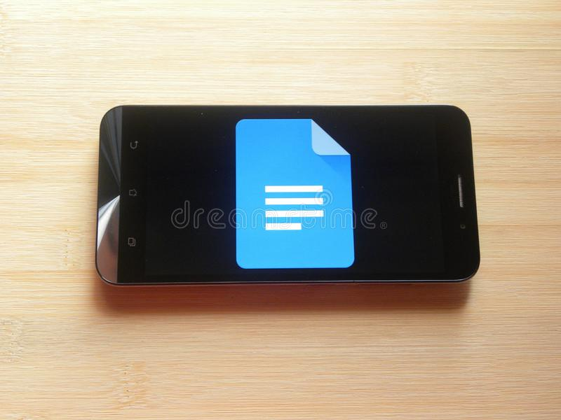 Google-Doc. app royalty-vrije stock foto