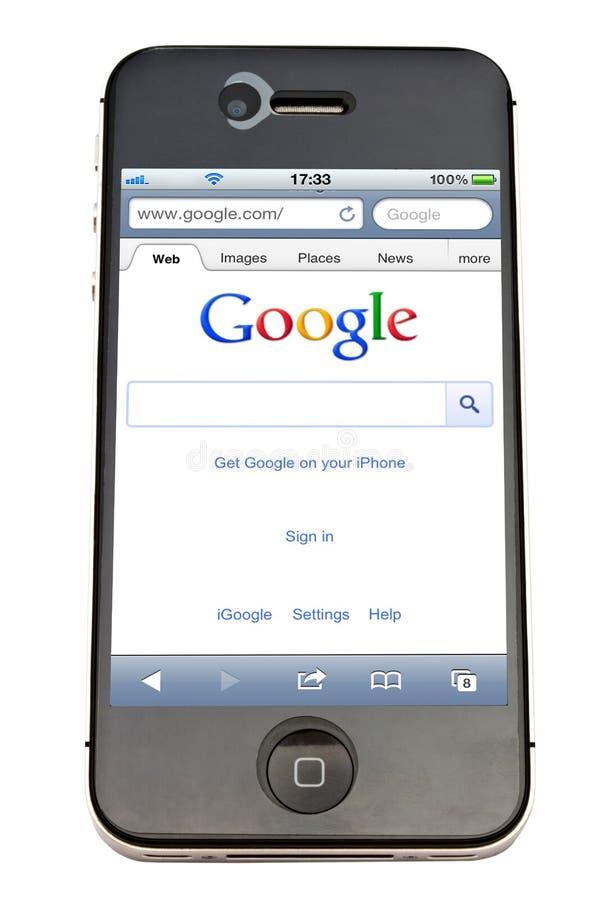 Google en iPhone royalty-vrije stock afbeeldingen