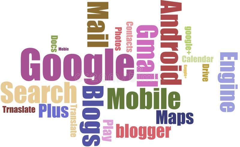 Google etiqueta a nuvem ilustração royalty free