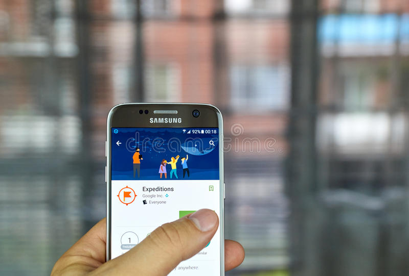 Google expeditioner app arkivfoton