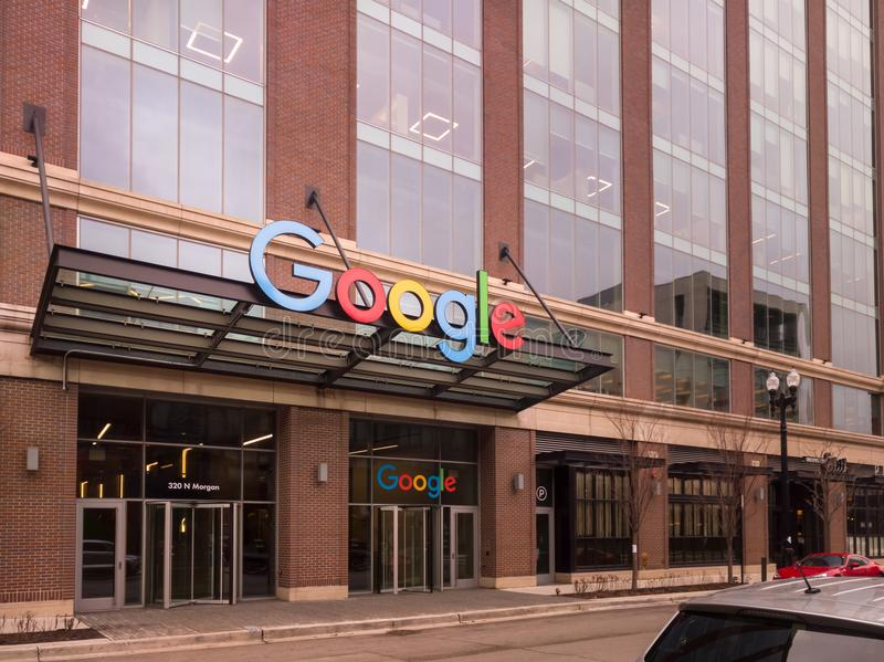 Google företags universitetsområde i Fulton Market arkivfoto