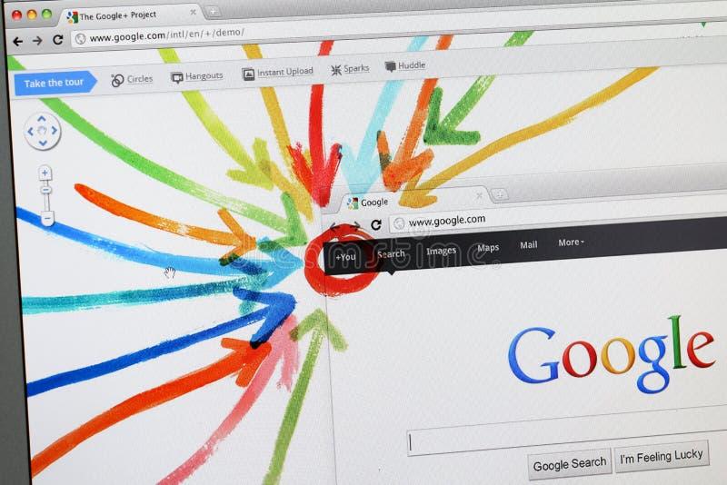 Google+ - Google più - la nuova rete sociale fotografie stock