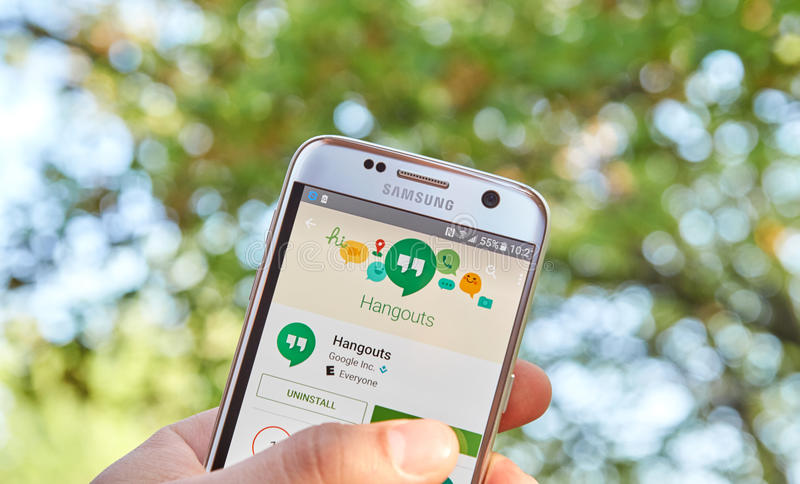 Google Hangouts app stock photography