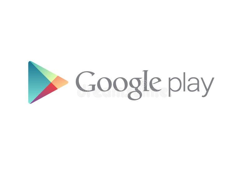 Google joga o logotipo ilustração royalty free