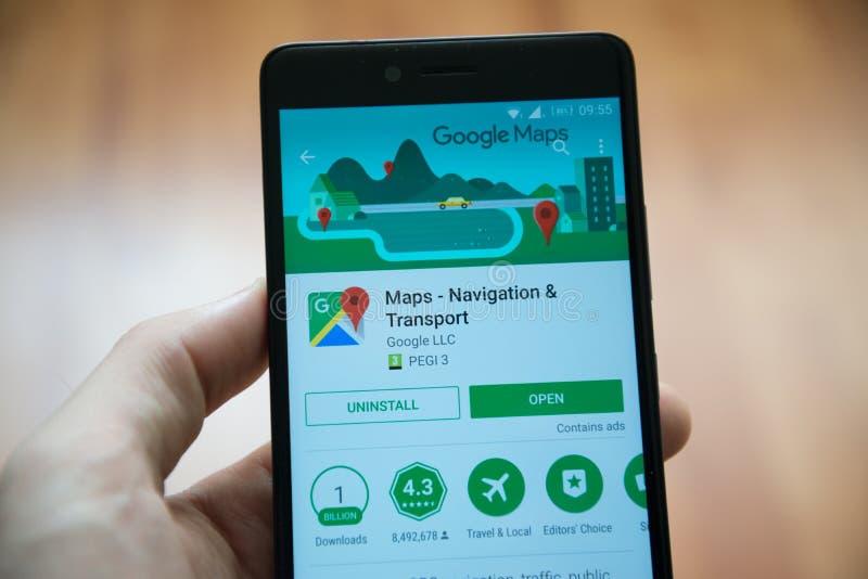 Google kartografuje zastosowanie w Google sztuki sklepie obrazy royalty free
