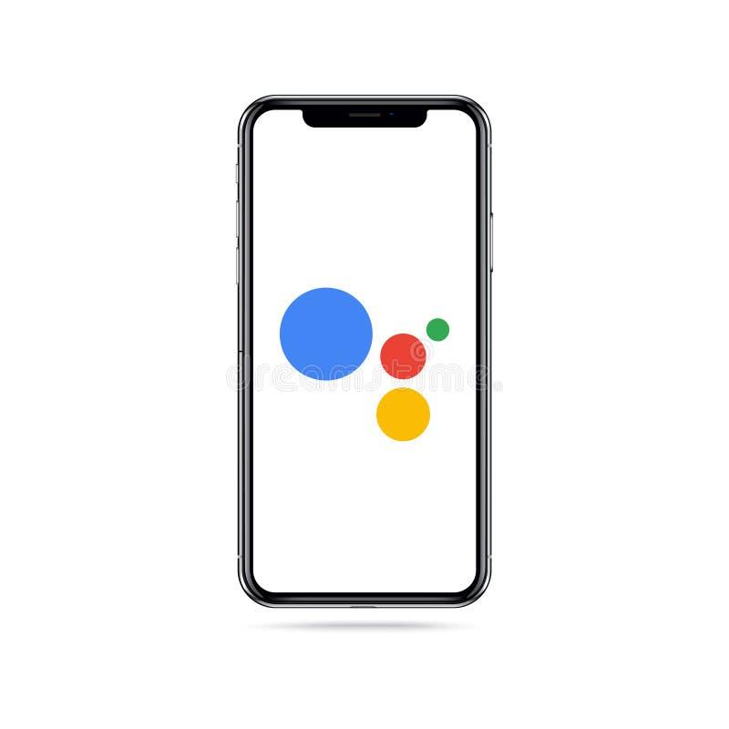 Google logo iphone Pomocnicza ilustracja zdjęcie royalty free
