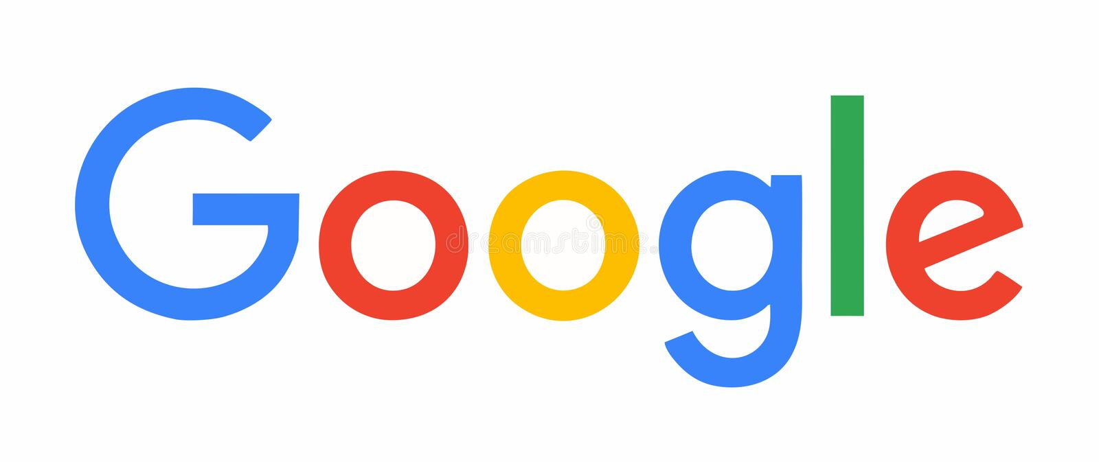 Google logo. Type on white background. EPS vector format trace from photo