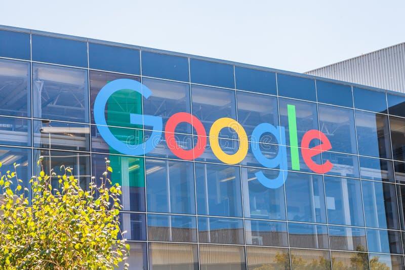 Google Logo Sign fotografering för bildbyråer