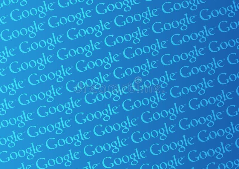 google logovägg royaltyfri illustrationer