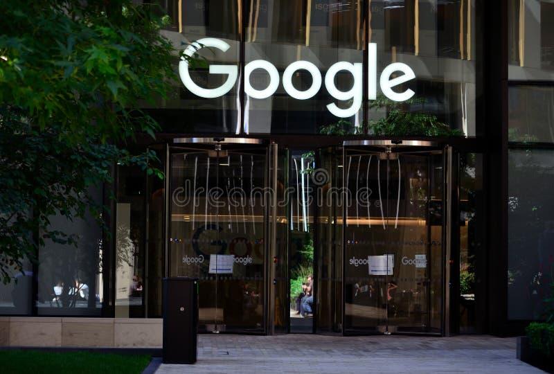 Google Londra fotografia stock