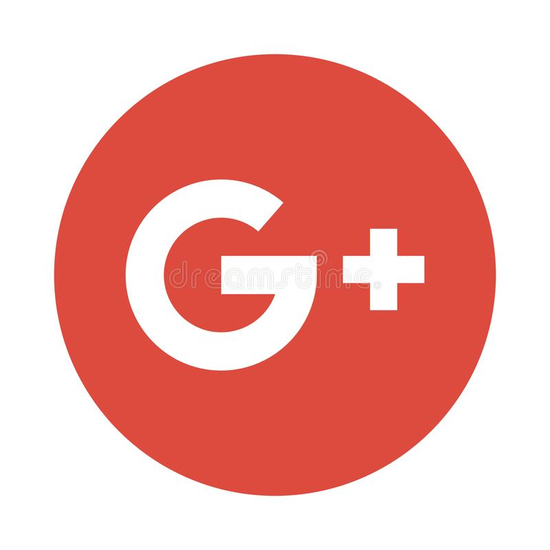 Google más el botón social del icono de los medios libre illustration
