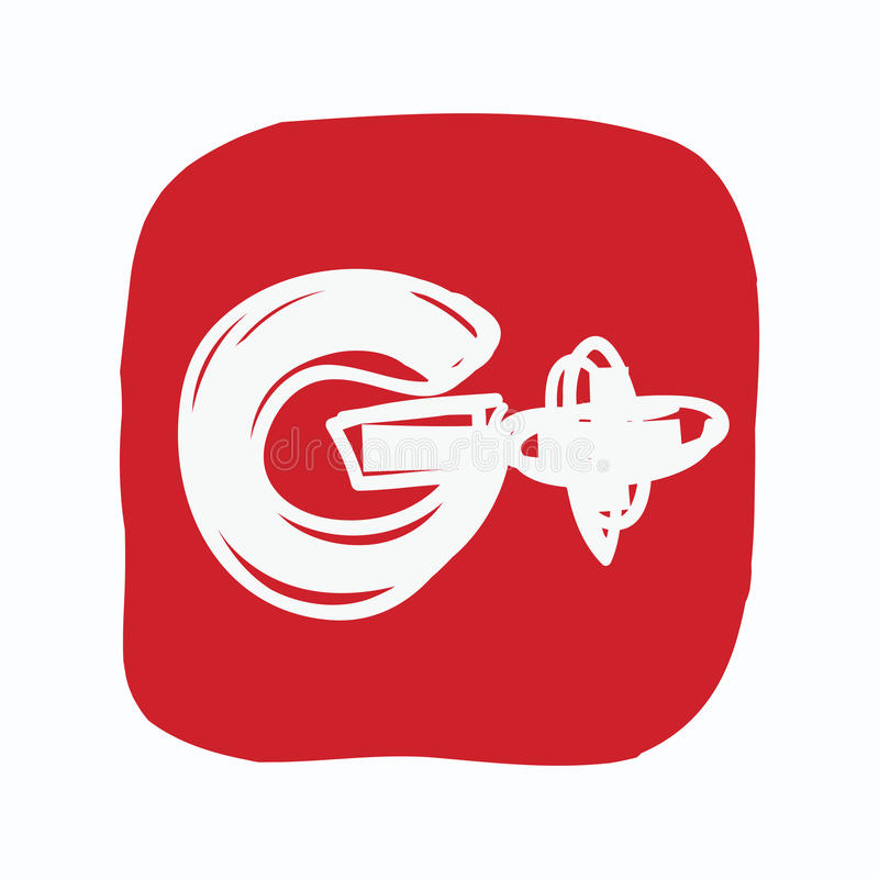 Google más, icono de los medios sociales, garabato del color ilustración del vector