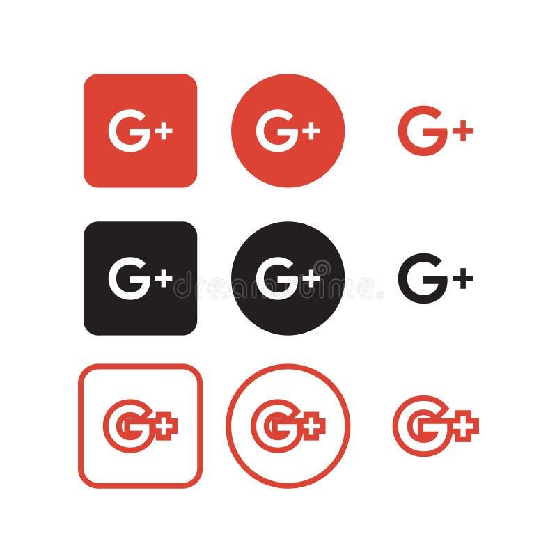 Google más medios iconos sociales libre illustration
