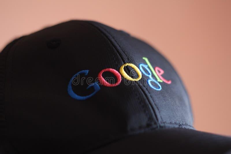 Google märkte baseballmössan royaltyfri foto