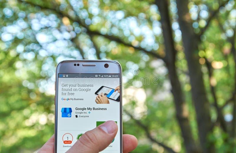 Google Mój biznes app obraz stock